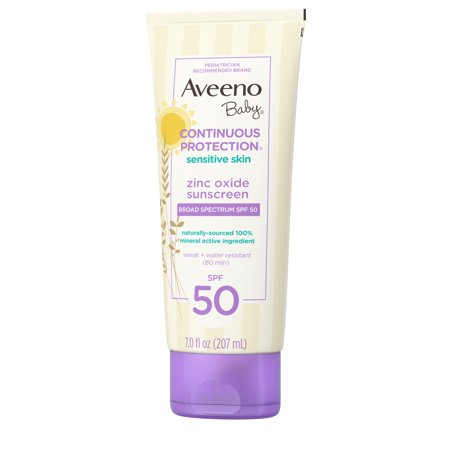 Aveeno Baby Continuous Protection Zinc Oxide Mineral Sunscreen, SPF (Best Zinc Oxide Sunscreen For Baby)