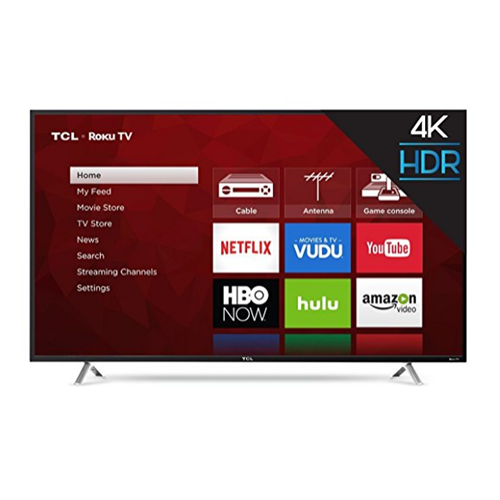 "Refurbished TCL 55"" Class 4K (2160P) Roku Smart LED TV WiFi & Apps (55S405)"