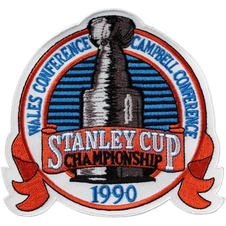 Reebok Boston Bruins Patch (1990 NHL Stanley Cup Jersey Patch Edmonton Oilers vs. Boston Bruins )