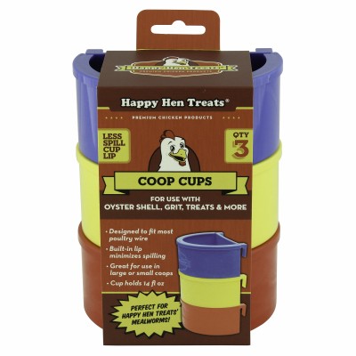POULTRY COOP CUPS ASSORTED 14 OUNCE