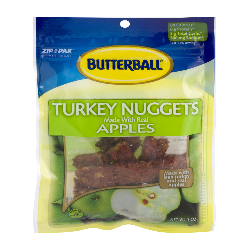 Butterball Turkey Nuggets Made with Real Apples, 3 oz