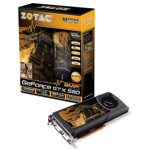 Zotac Geforce GTX580 1536MB DDR5 Graphics Card