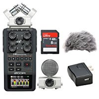 Zoom H6 Portable Recorder Kit with a Custom Windbuster, AD-17 AC Adapter and a 16GB SDHC Memory Card