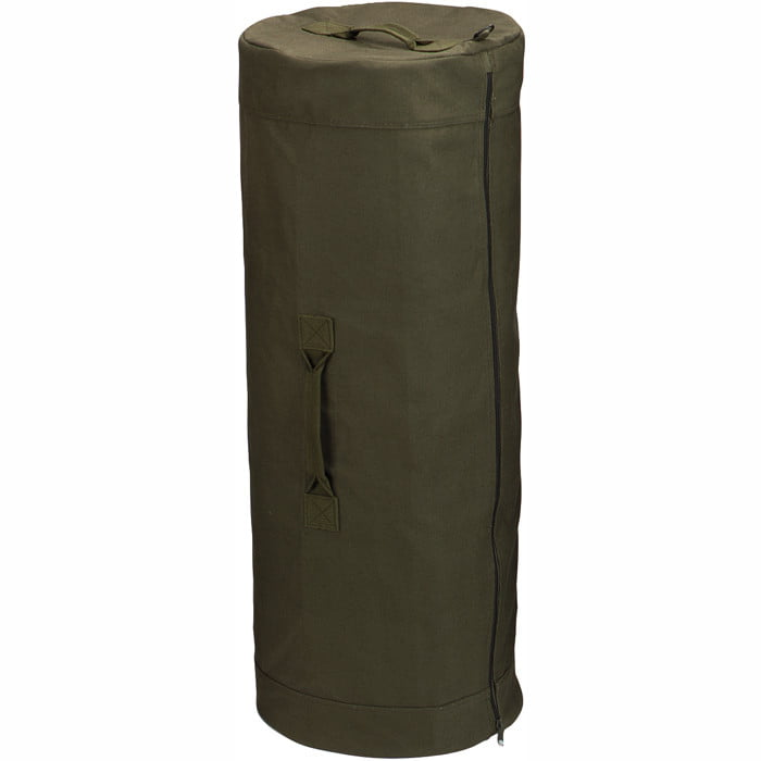 Olive Drab Military Large Duffle Bag with Side Zipper 25 in. x 42 in. Cotton Canvas by Rothco