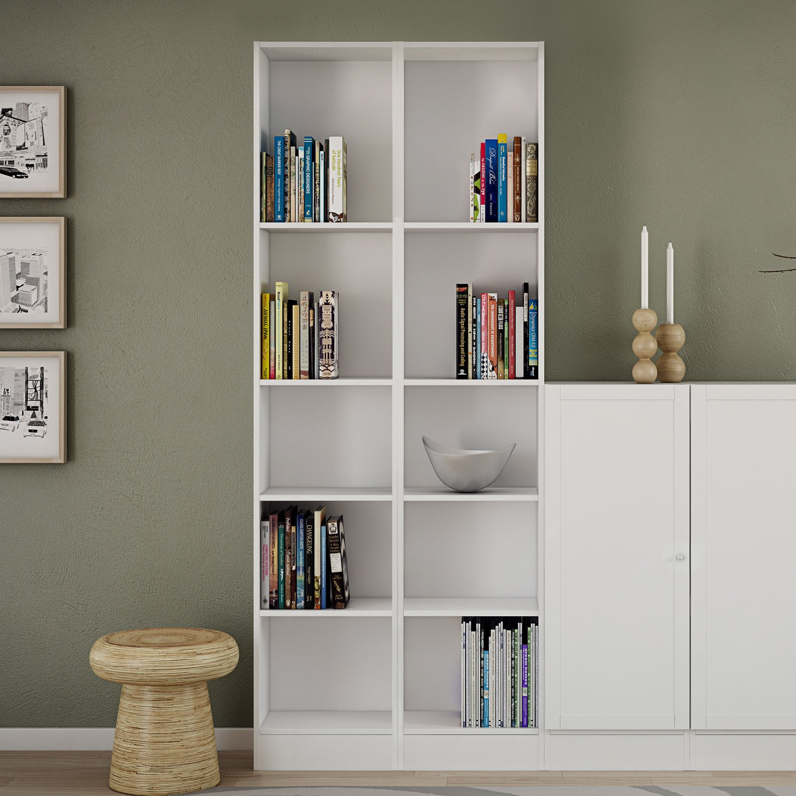 element tall narrow 5 shelf bookcase walmart
