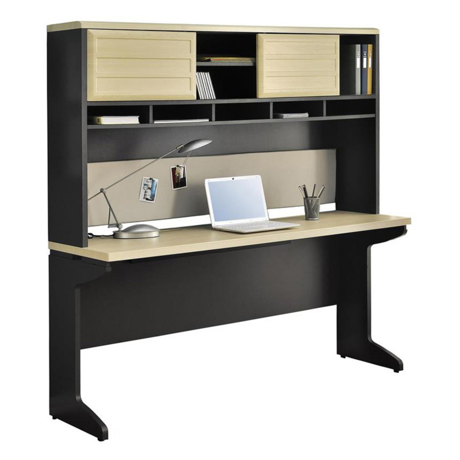 Altra Furniture Pursuit Benjamin Computer Desk with Hutch Bundle