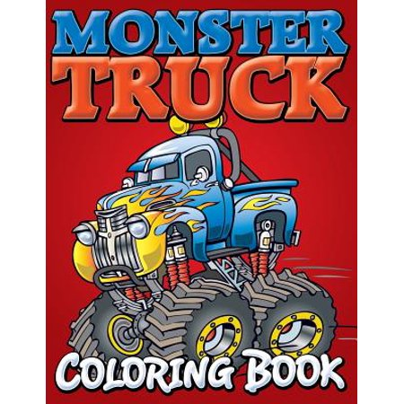 Monster Trucks Coloring Book (Monster Truck Books For Boys)