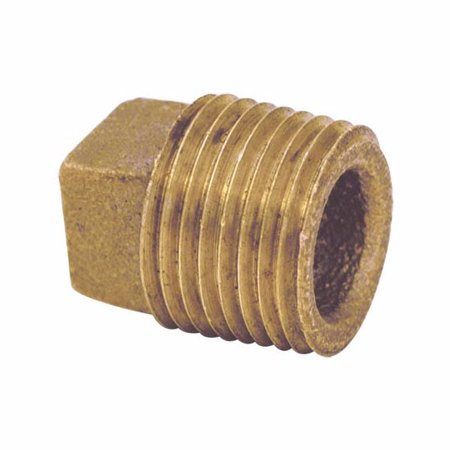 Ez-Flo 62617LF Brass Pipe Plug Square Head (111 Series) Brass Square Head Plug