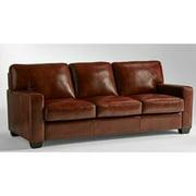 Lazzaro Aberdeen Leather Sofa in Auburn