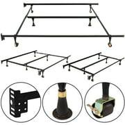 metal bed frame adjustable queen full twin size w center support - Adjustable Beds Frames