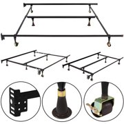 metal bed frame adjustable queen full twin size w center support - Twin Size Metal Bed Frame