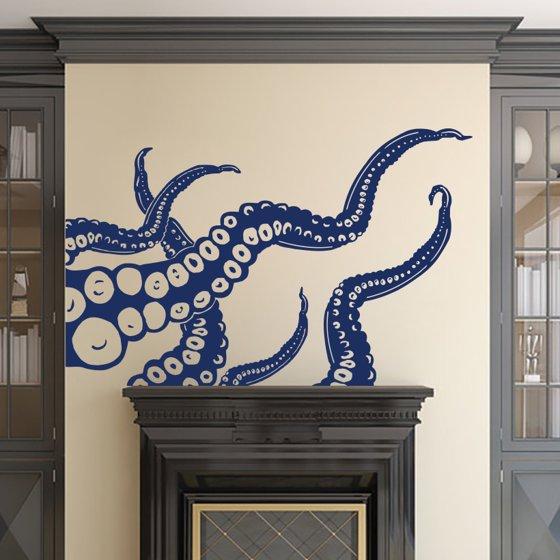 Octopus Wall Decal S Vinyl Sticker Decals Kraken Fish Deep Sea Scuba Ocean Animals Bathroom Home Decor Nautical Bedroom