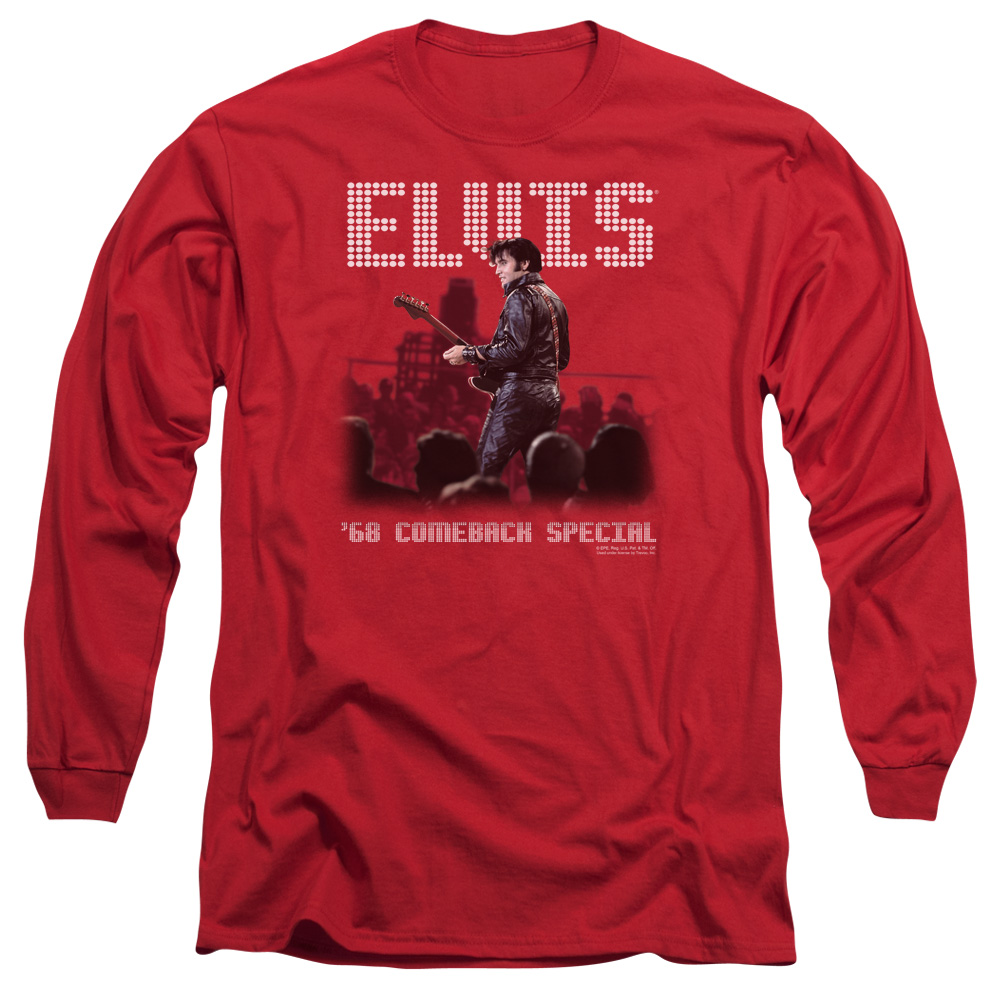 elvis/return of the king   l/s adult 18/1   red     elv521