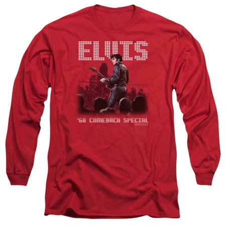 ELVIS/RETURN OF THE KING - L/S ADULT 18/1 - RED - SM