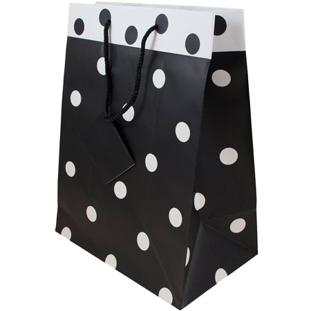 Black And White Gift Bags (JAM Paper Gift Bags, Large, 10