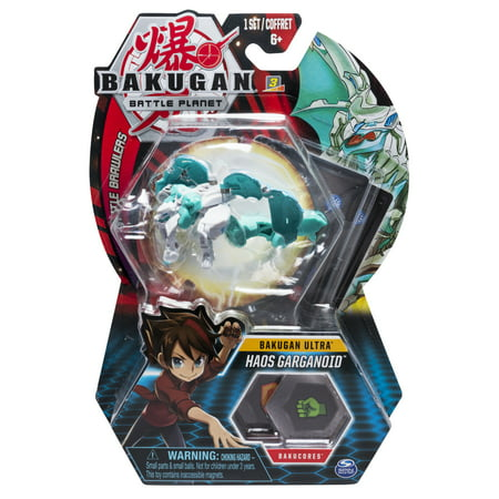 Bakugan Ultra, Haos Garganoid, 3-inch Collectible Action Figure and Trading Card, for Ages 6 and Up