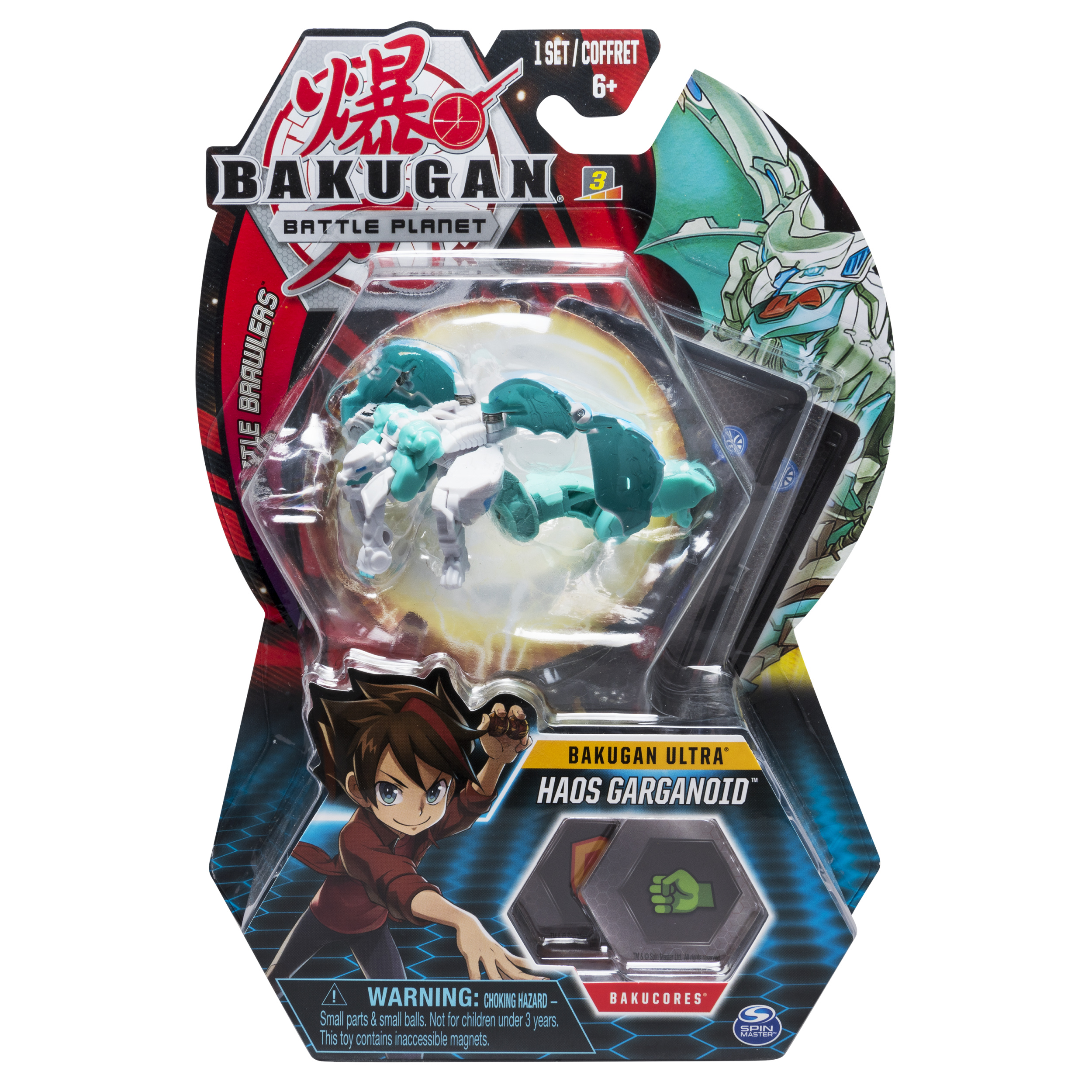 Bakugan Ultra, Haos Garganoid, 3-inch Tall Collectible Transforming Creature, for Ages 6 and Up