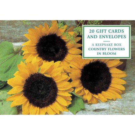 Tin Box of 20 Gift Cards and Envelopes: Country Flowers in Bloom: A Keepsake Tin Box Featuring 20 High-Quality Floral Gift Cards and Envelopes