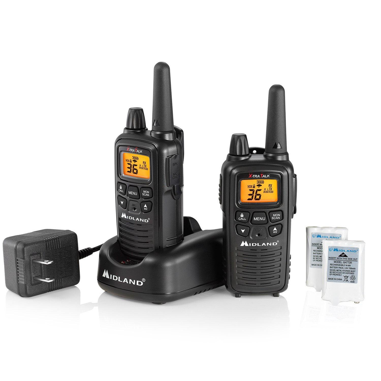 Walkie Talkies, Midland Lxt600vp3 Gmrs Rechargeable Handheld Walkie Talkies Radio
