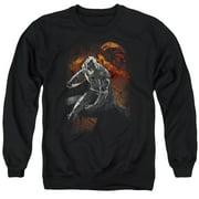 Dark Knight Rises Grungy Knight Mens Crewneck Sweatshirt