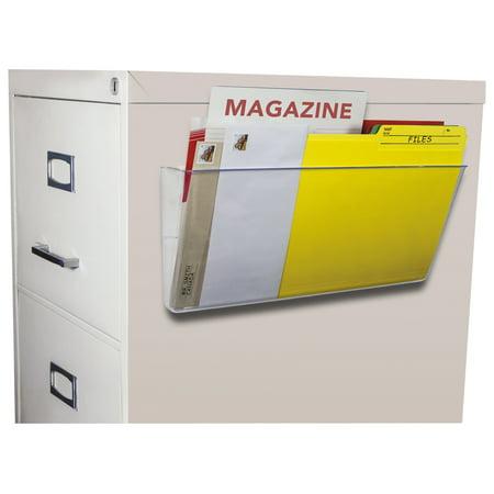 Storex Unbreakable Magnetic Wall File, Letter/Legal, 16 x 7, Single Pocket, Clear -STX70325U06C