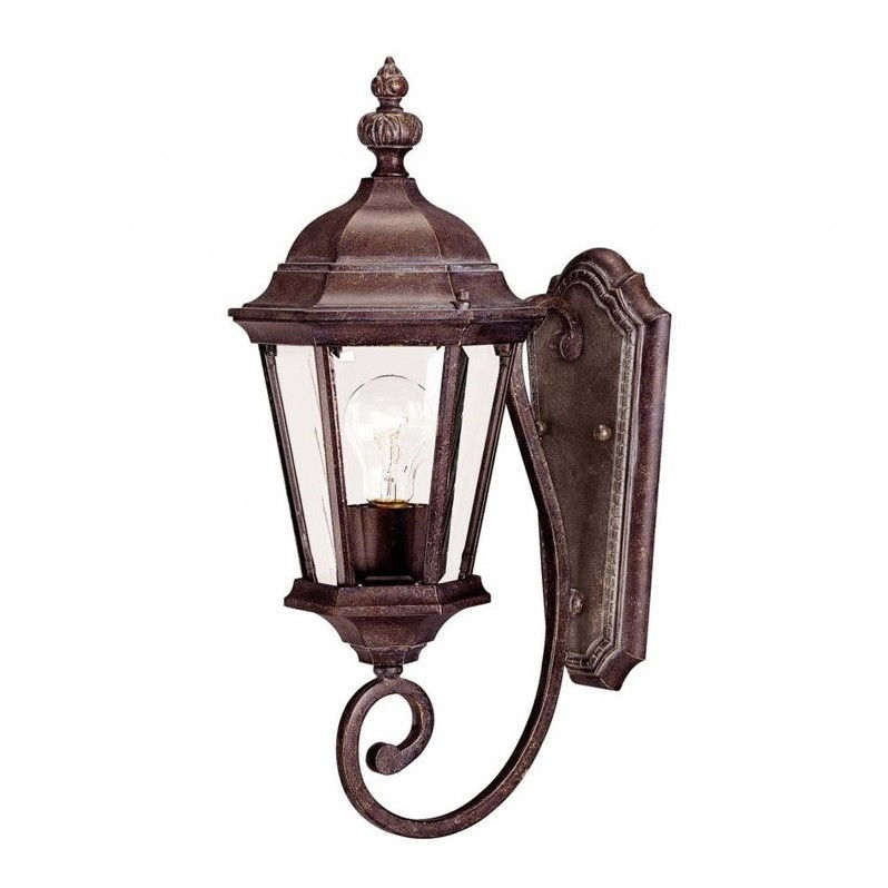 Savoy House Wakefield Wall Mount Lantern in Walnut Patina