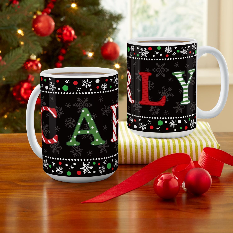 Personalized Festive Name Christmas Coffee Mug