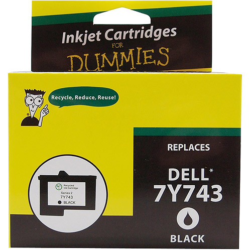 For Dummies Remanufactured Dell 7Y743 Black Ink Cartridge Series 2