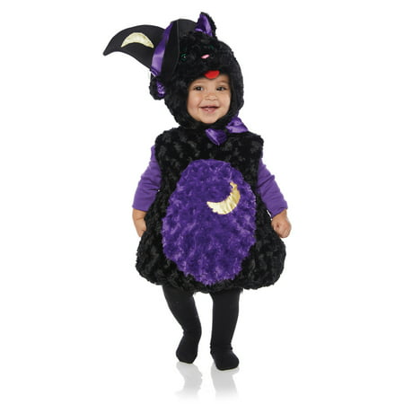 Spooky Girls Toddler Black Cat Belly Baby Plush Halloween Costume