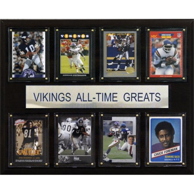 C & I Collectables 1215ATGVIK NFL Minnesota Vikings All-Time Greats Plaque