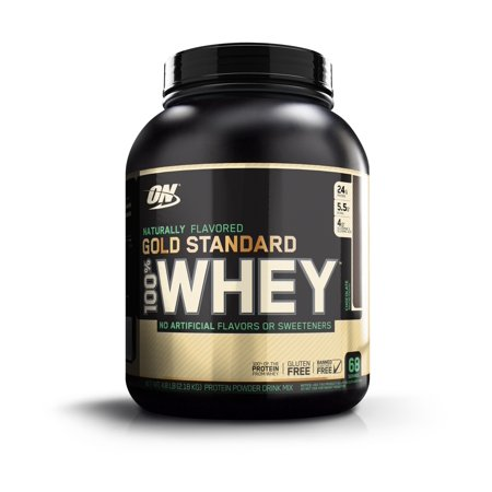 Optimum Nutrition Gold Standard 100% Whey Protein Powder, Naturally Flavored Chocolate, 24g Protein, 4.8 Lb