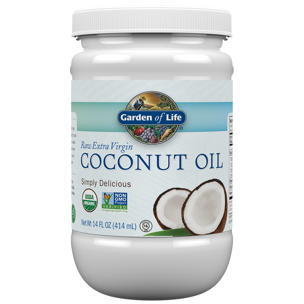 Garden of Life Raw Extra Virgin Coconut Oil, 14 Fl Oz