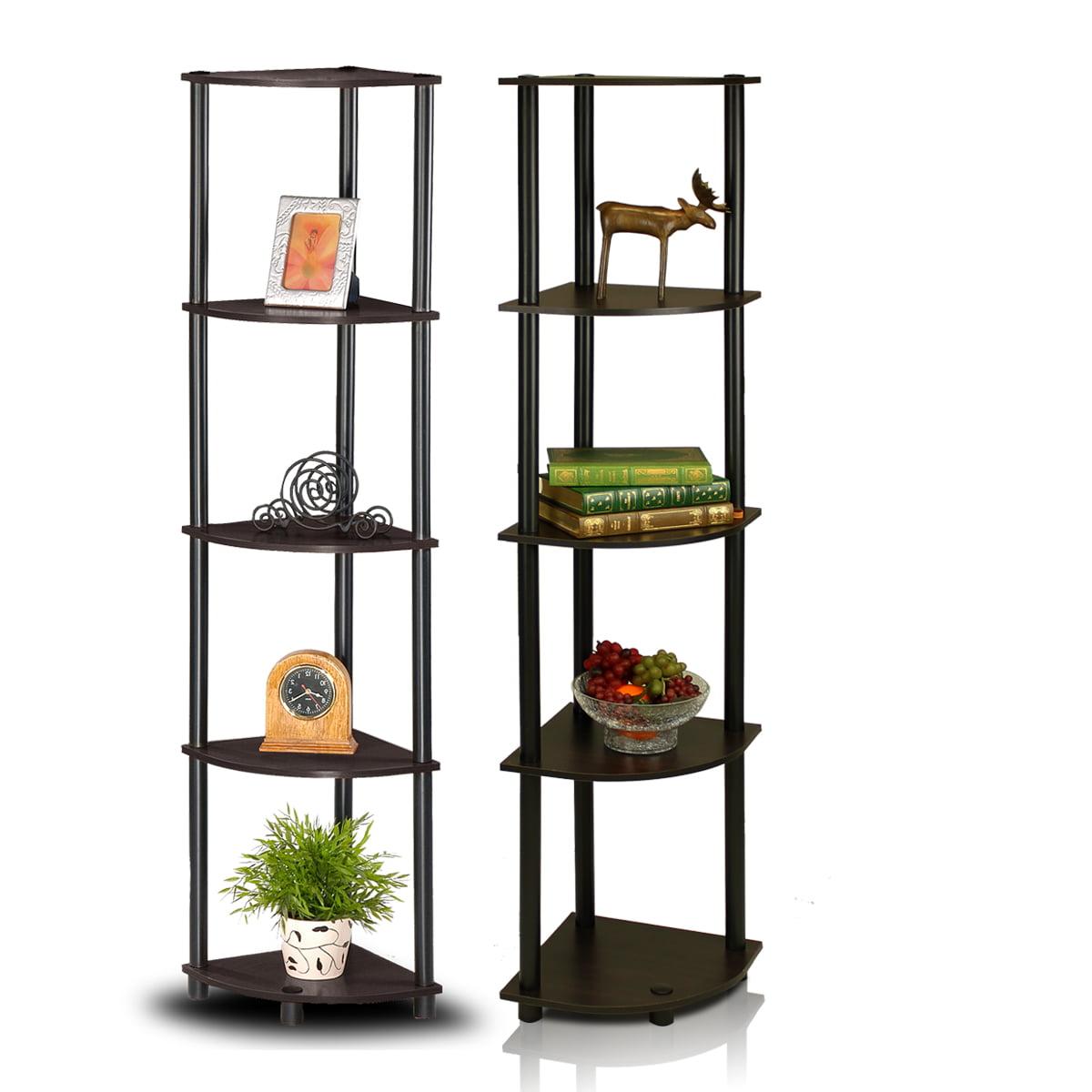 Furinno 2 99811ex Bk Turn N Tube 5 Tier Corner Multipurpose Display Shelves Set Of 2