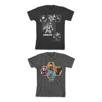 Roblox Boys Character Grid & Stack Logo Graphic T-Shirts 2-Pack, Sizes 4-18