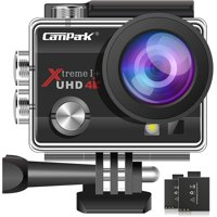 Campark ACT74 Action Camera 16MP 4K WiFi Waterproof Sports Cam 170 Degree Ultra Wide Angle Lens with 2 Pcs Batteries and Mounting Accessories Kits