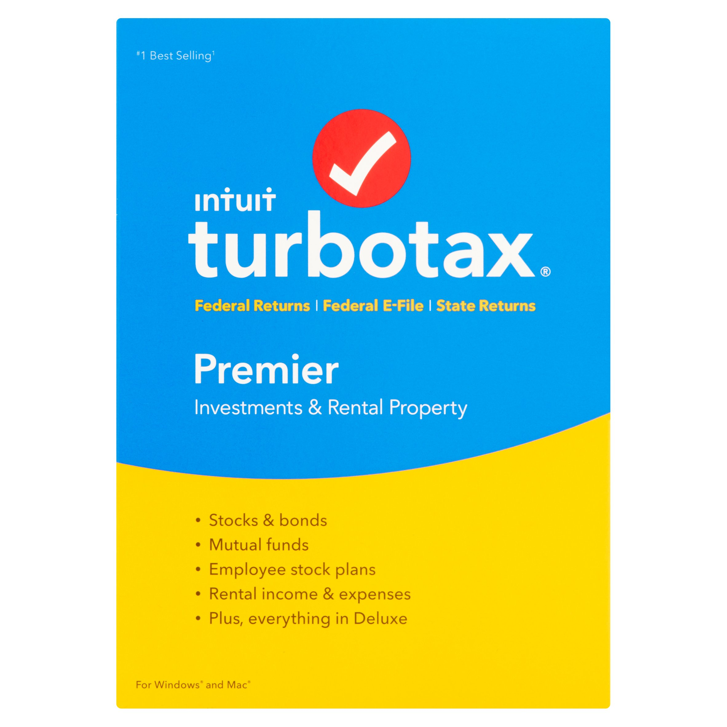 TurboTax Premier (Federal and State) for Windows/Mac, Tax Year 2016 [OLD VERSION]