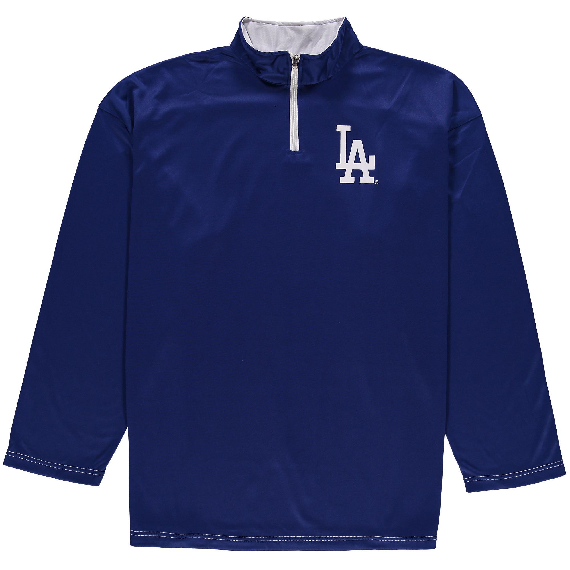 Los Angeles Dodgers Majestic Big & Tall Ready and Willing Therma Base Quarter-Zip Jacket - Royal