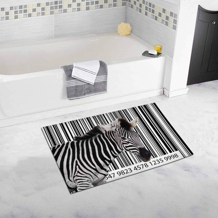 - CADecor Zebra in the Country House Image As A Barcode Bath Rug Bathroom Mat Doormat 30x18 inches
