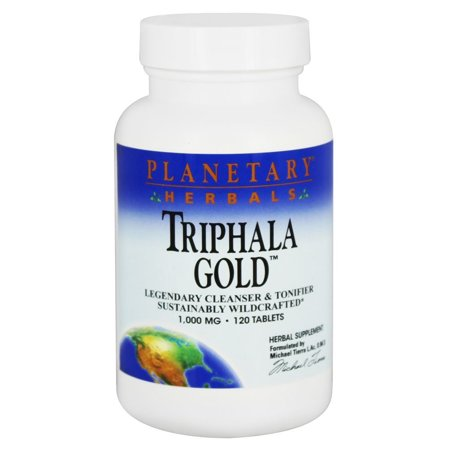 Herbal Tablet Medicine (Planetary Herbals - Triphala Gold Cleanser & Tonifier 1000 mg. - 120 Tablets )