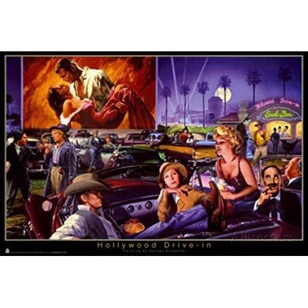 Hollywood Drive  By George Bungarda 36X24 Movie Art Print Poster Over 21 Hollywood Celebrities At Gone With The Wind Movie   See Description For Cast