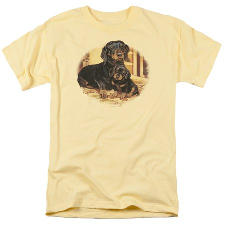 Wildlife/Picture Perfect Dachshunds   S/S Adult 18/1   Banana     Ww290