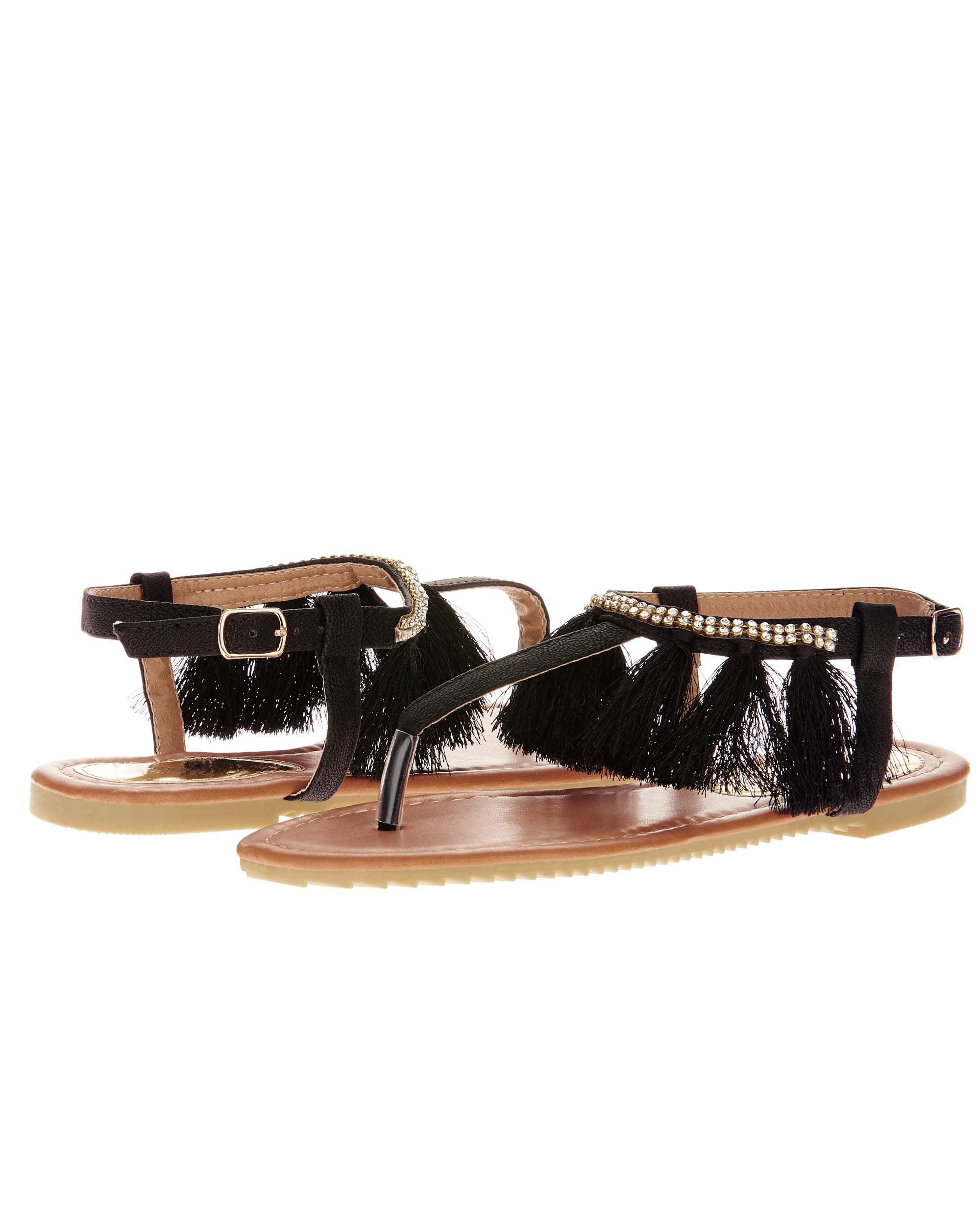 Victoria K Women's Fringe Design sandals