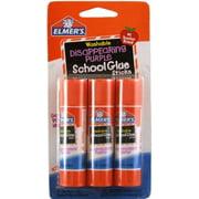 Elmer's Washable Disappearing Purple School Glue Stick .22 oz 3 ea (Pack of 4)