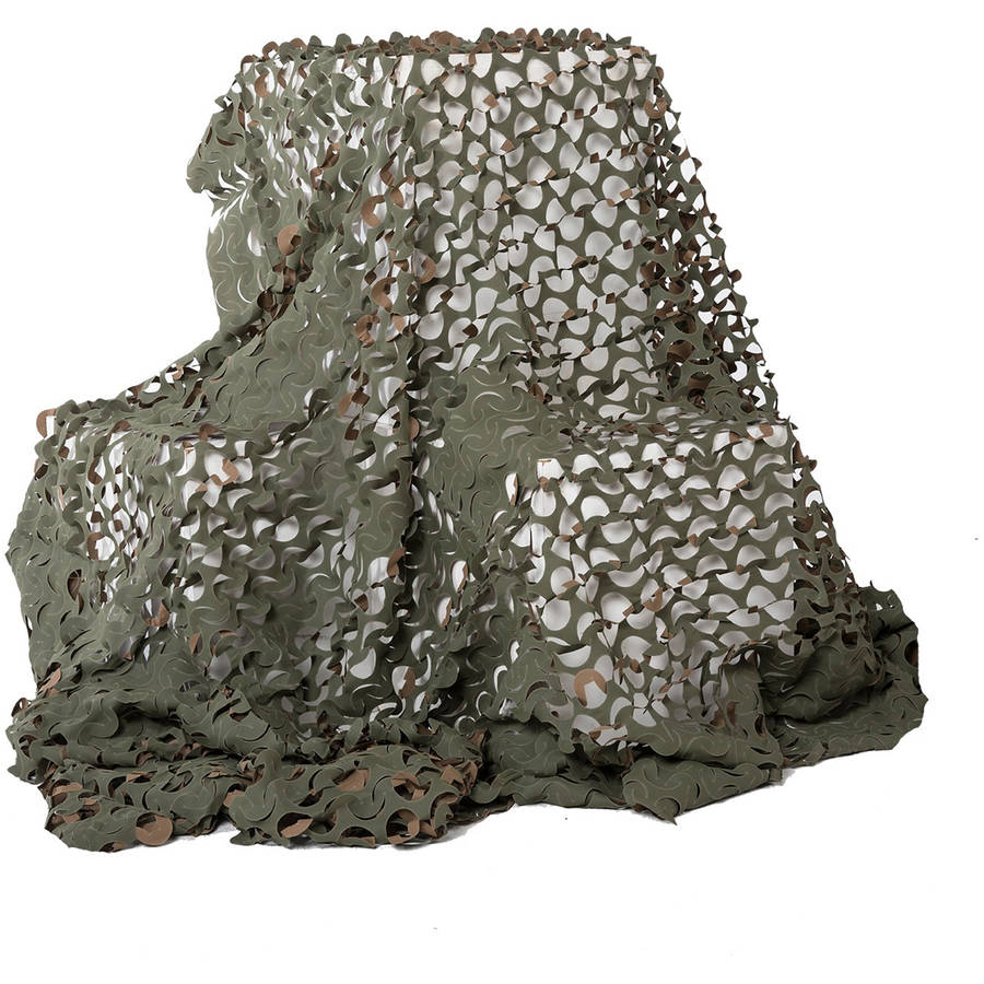 "Camo Unlimited Basic Ultra Lite 7' 10"" x 19' 8"" Camouflage Netting, Woodland, Green and Brown"