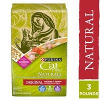 3.15-lb Purina Cat Chow Natural Dry Cat Food, Naturals Original