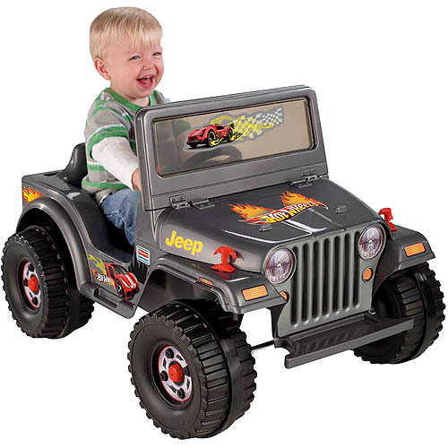 Fisher-Price Power Wheels Charcoal Hot Wheels Jeep 6-Volt Battery-Powered Ride-On - Walmart.com