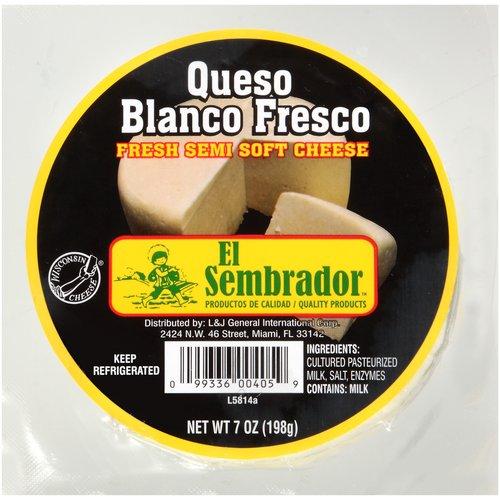 El Sembrador Queso Blanco Fresco Fresh Semi Soft Cheese, 7 oz