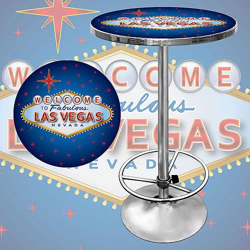 "Trademark Las Vegas 42"" Pub Table, Chrome"