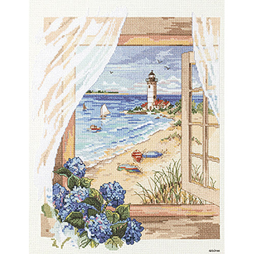 "View From The Window Counted Cross Stitch Kit, 11"" x 14"", 14-count"