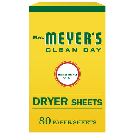 Mrs. Meyer's Clean Day Dryer Sheets, Honeysuckle Scent, 80 ct Dryer Sheet Coupons